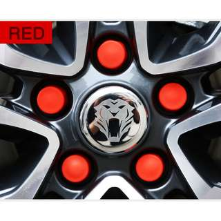 SILICONE WHEEL NUT FOR ALL CAR (RED 20 PCS)