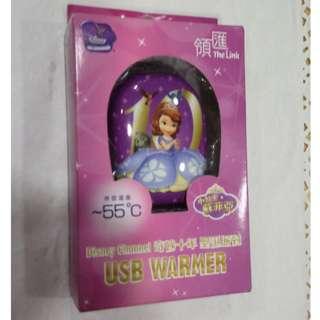 全新  小公主蘇菲亞款 USB暖手蛋