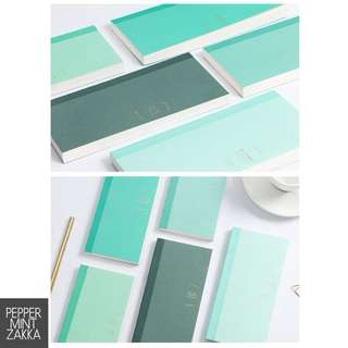Infeel Me Basic Mint Shades Weekly Planner Notebook - 1PCS [95 x 187mm]