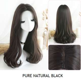 Korean Middle Parting Daily Full Wig With Natural-looking Black Roots (Best-Selling) (Ombre Brown/Ombre Grey/Natural Black/Chocolate Brown)
