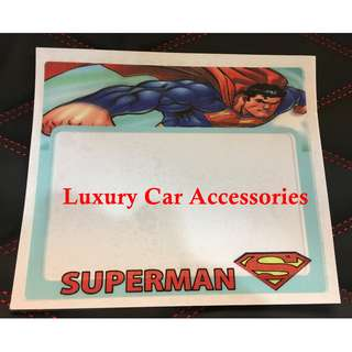 SUPERMAN CAR ROADTAX STICKER ROAD TAX
