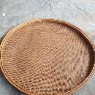 Vintage large bamboo strainer