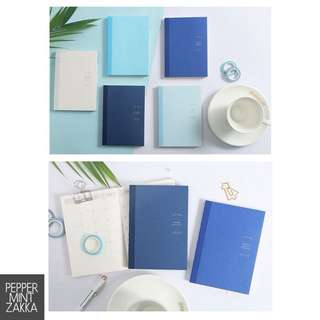 Infeel Me A6 Basic Blue Shades Planner Notebook - 1PCS [150 x 105mm]