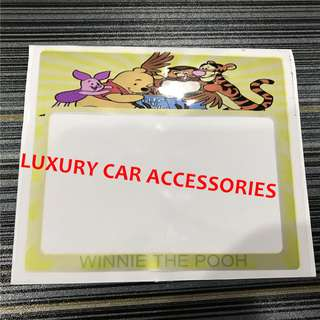 WINNIE THE POOH CAR ROADTAX STICKER ROAD TAX