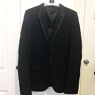 Jack London Black Tuxedo Slim Suit for Men