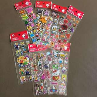 8* stickers free postage
