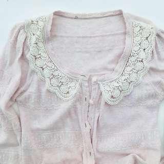 Blush Pink Long Knitted Cardigan 🌸