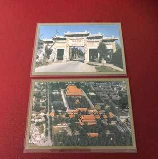 China stamp 邮政明信片as in picture —-2 pieces
