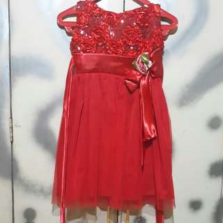 Red Dress Gown for girls