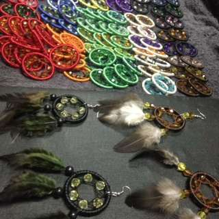 Dream catcher Earrings 120 for pair