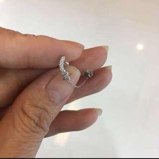 18k 鑽石耳環