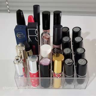 Clear Arcrylic 24 lipstick holder stand organiser display RRP$30
