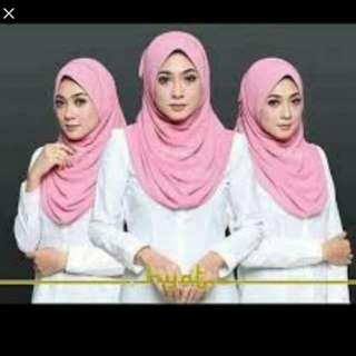 Hyat hijab pink powder