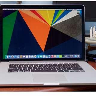Macbook Pro Retina, 15-inch, Late 2013