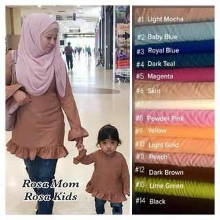 S-7XL Mom and Kids Blouse