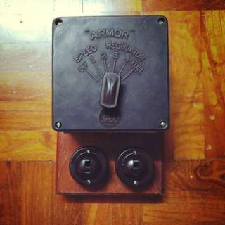 Vintage GEC Fan regulator with switches