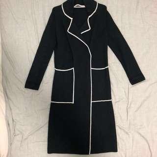 Cashmere wool coat black no brand 黑白色羊絨 羊毛 外套 長褸
