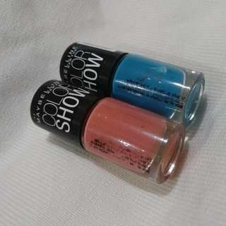 Maybelline nails 2pcs=60rb