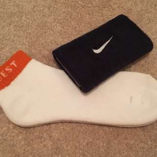 Ankle Socks and Nike Wristband