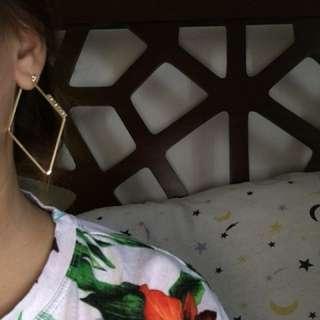 Earrings when worn