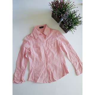 Pink polo sleeves