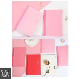 Infeel Me A5 Basic Pink Shades Planner Notebook - 1PCS [210 x 148mm]