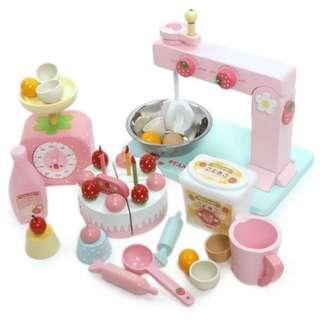 BN Wooden Strawberry Stand Mixer Baking Kitchen Set