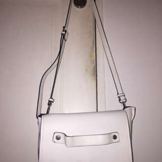Zara White Sling Bag (Crossbody)