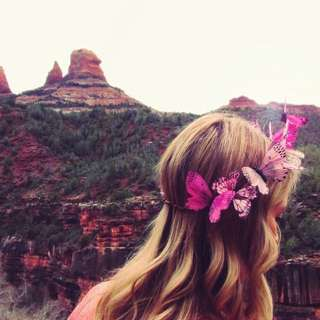 Customised Handmade Pink Florentina Butterfly Crown