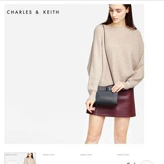 Charles and Keith Oversized Turn-Lock Sling Bag