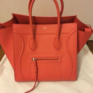 Authentic Celine Phantom Medium In Orange Colour