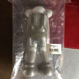 真品 Kaws small lie gray