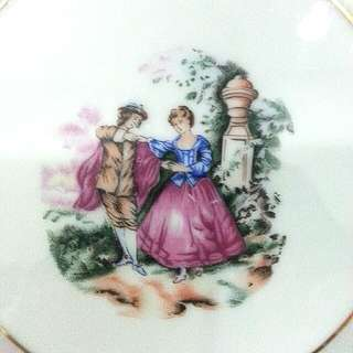 """10.5"""" Limoges Courting Couple Deco Plate"""