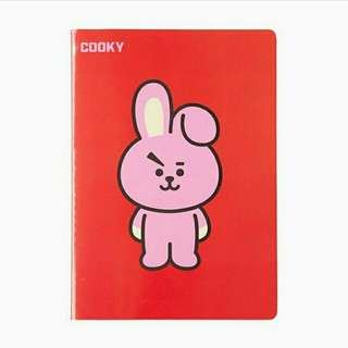 [INCOMING READY STOCK] BTS BT21 JUNGKOOK COOKY OFFICIAL A5 NOTEBOOK