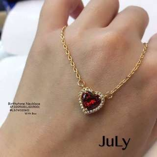 Birthstone necklace with box