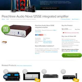 Peach tree tube amplifer $1400 display sets