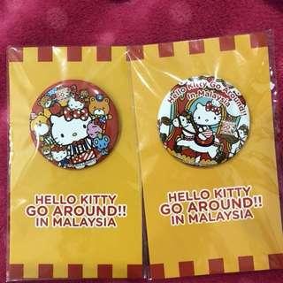 Hello Kitty Go around malaysia badges
