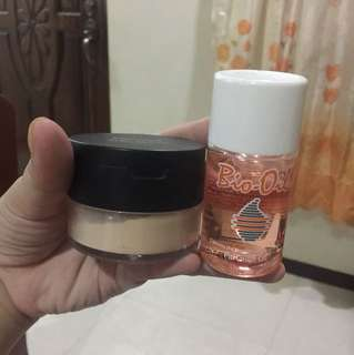 Bio oil & finishing powder