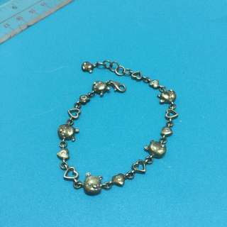 迪士尼 小熊維尼 925 銀手鍊 (實心,有需要可以提出清洗)Disney Winnie the Pooh 925 silver bracelet (solid, there is a need to propose cleaning)