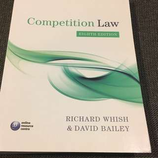 Competition Law - Richard Whish/David Bailey (Eighth Edition)