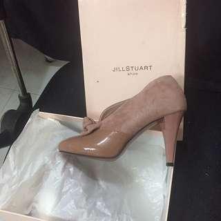 Jill Stuart 裸色蝴蝶結高跟鞋