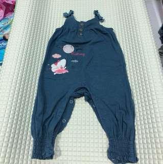 Miki Baby Girls overall
