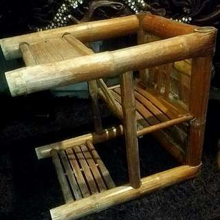 Vintage Bamboo Baby Chair  / Stool