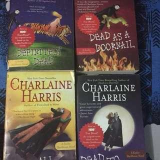 Charlaine Harris' books, ALL FOUR.