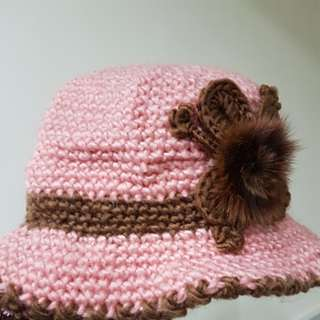 🚚 粉色毛線帽