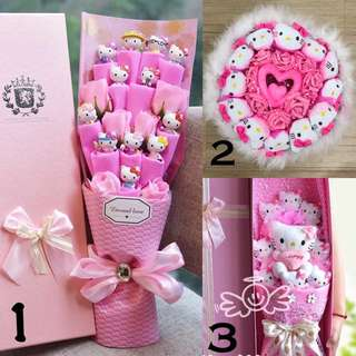 Valentine's Day Toy Bouquets. Hello Kitty Bouquets