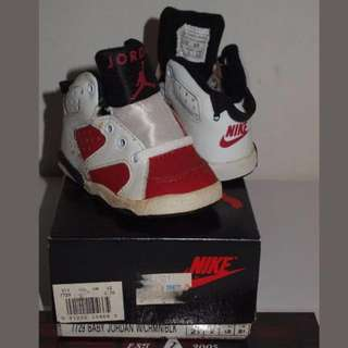 DS 1991 Nike Air Jordan 6 Carmine Toddler Baby Infant Shoe