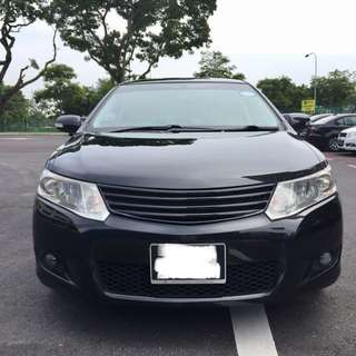 Toyota Allion 1.5A for rent