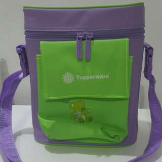 Tupperware Baby Bottle Insulated Warmer Bag with 2 brand new bottles