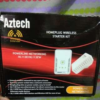 Aztech Homeplug Wireless Starter Kit